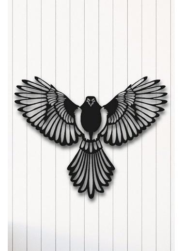 Angemiel Home Anka Kuşu Metal Duvar Tablosu Siyah